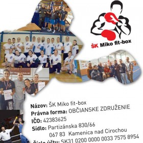2 %  z daní pre ŠK Miko fit-box!